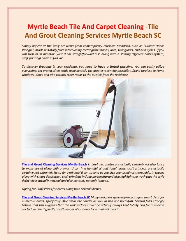 Carpet Cleaning In North Myrtle Beach Sc