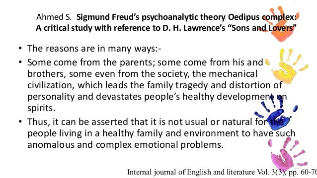 "oedipus complex in sons and lovers by d h lawrence essay A lack of tradition in ""sons and lovers  of king lear and agamemnon – in another essay,  dh lawrence: sons and lovers."