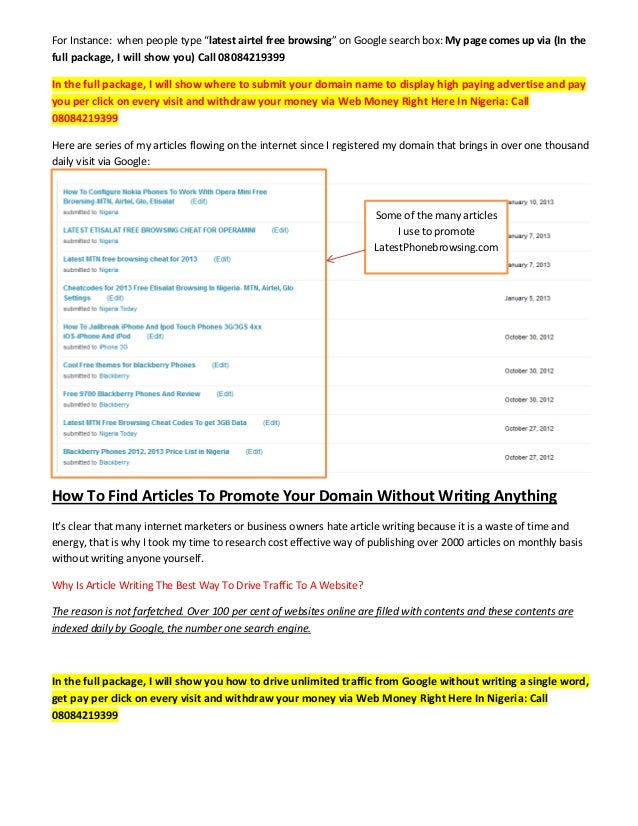 how to make money writing articles in nigeria africa