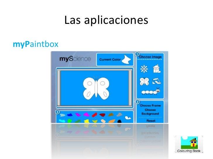 Las aplicaciones<br />myPaintbox<br />