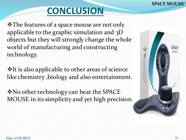 My seminar ppt SPACE MOUSE
