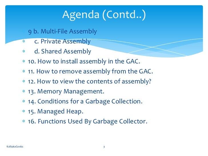 Secrets of  NET Assemblies and Memory Management