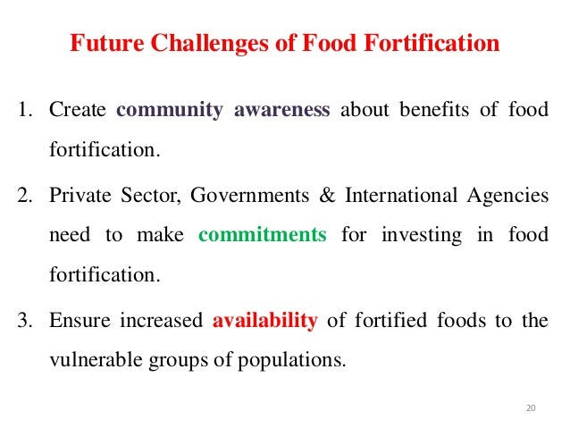 19; 20. Future Challenges Of Food Fortification ...