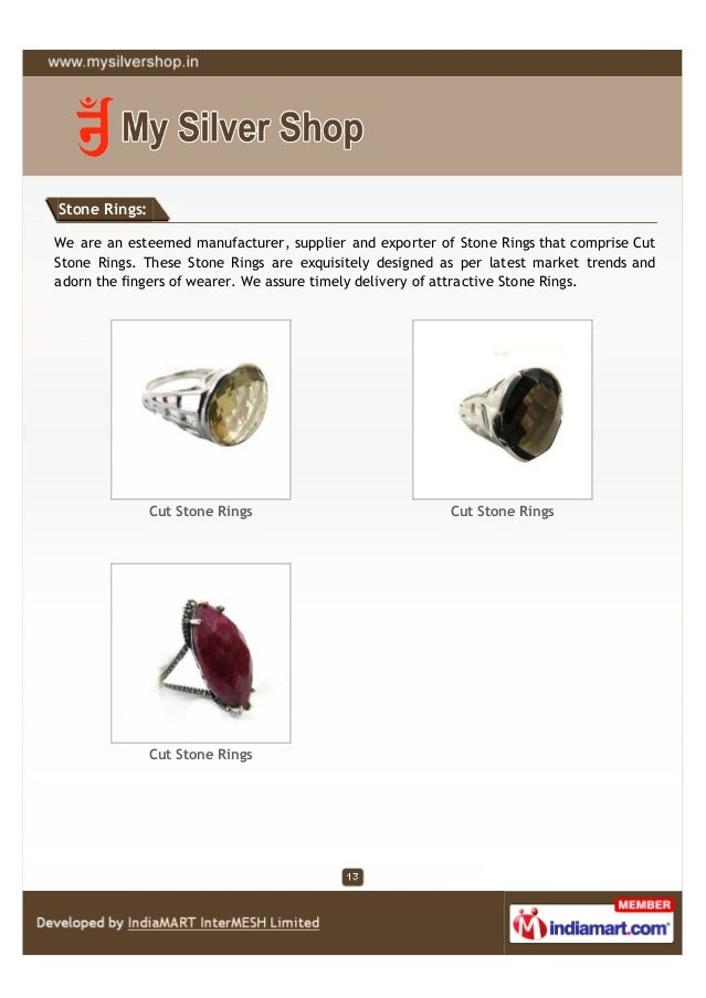 Stone Rings:We are an esteemed manufacturer, supplier and exporter of Stone Rings that comprise CutStone Rings. These Ston...
