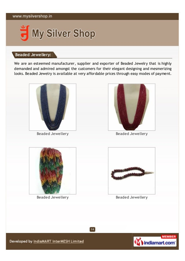 Beaded Jewellery:We are an esteemed manufacturer, supplier and exporter of Beaded Jewelry that is highlydemanded and admir...