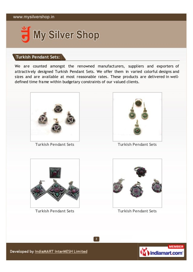 Turkish Pendant Sets:We are counted amongst the renowned manufacturers, suppliers and exporters ofattractively designed Tu...