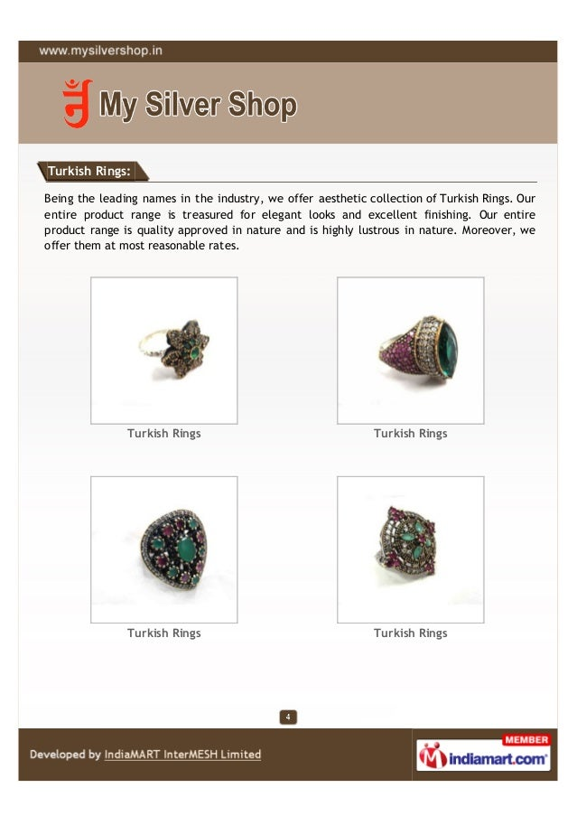 Turkish Rings:Being the leading names in the industry, we offer aesthetic collection of Turkish Rings. Ourentire product r...