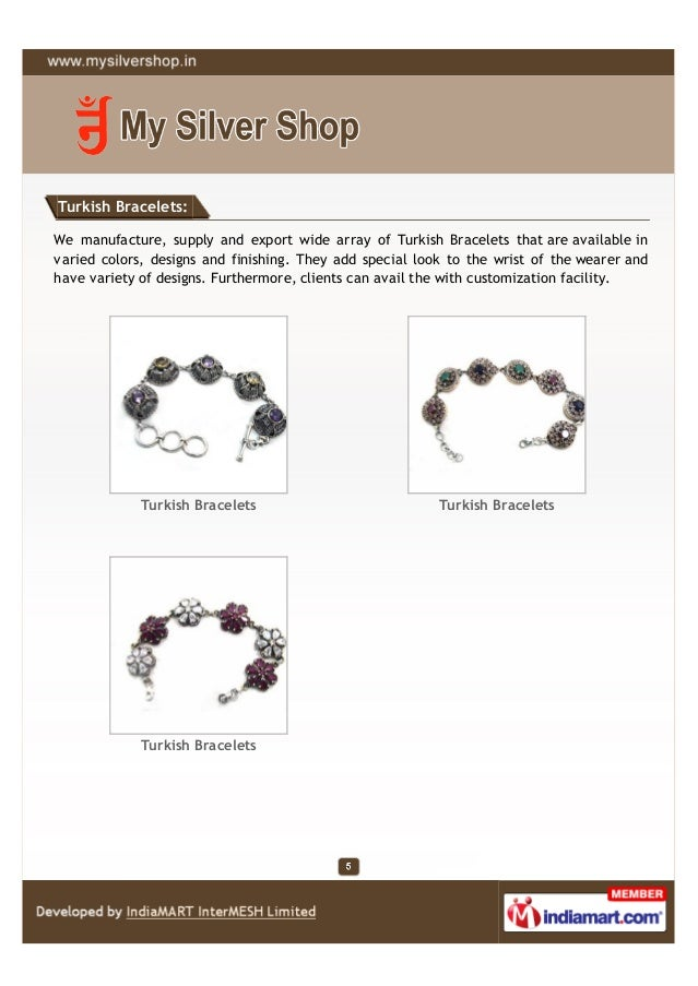 Turkish Bracelets:We manufacture, supply and export wide array of Turkish Bracelets that are available invaried colors, de...