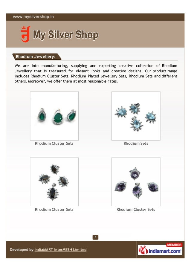 Rhodium Jewellery:We are into manufacturing, supplying and exporting creative collection of RhodiumJewellery that is treas...