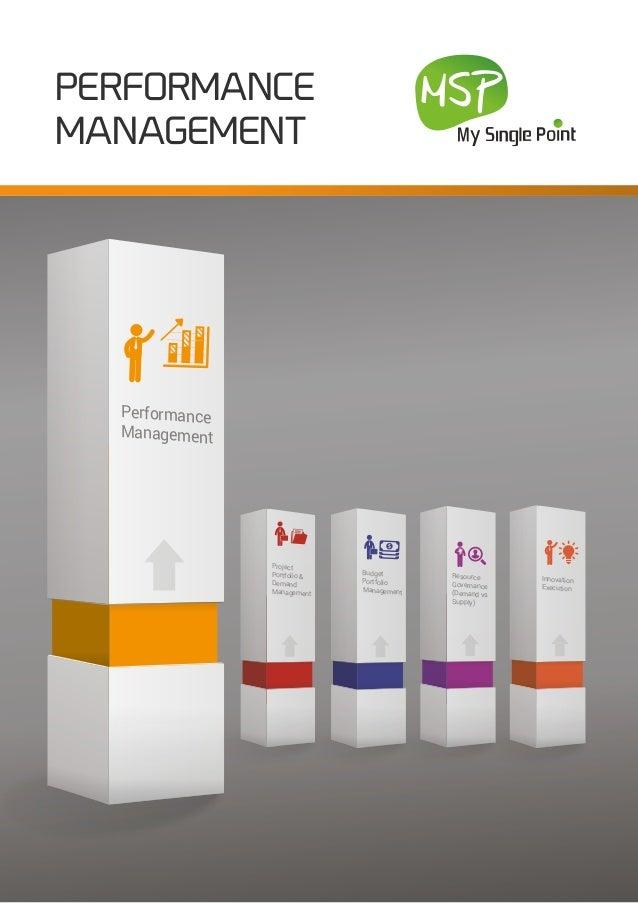 PERFORMANCE MANAGEMENT Innovation Execution Performance Management Budget Portfolio Management Project Portfolio & Demand ...