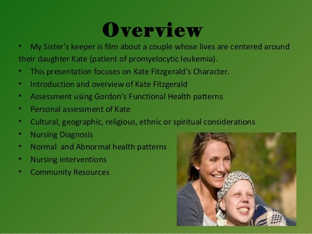 my sisters keeper health My sister's keeper discussion guide a discussion guide for teen educators and families to accompany the movie and book, my sister's keeper, for ages 13 and up.