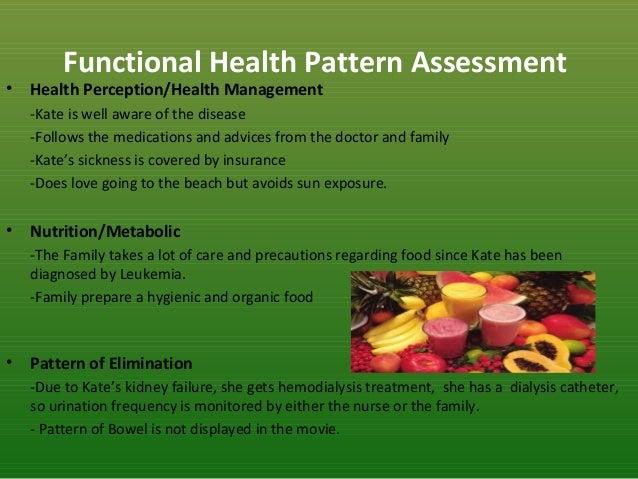 gordons 11 functional health pattern for family