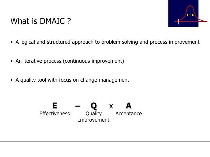 <ul><li>A logical and structured approach to problem solving and process improvement </li></ul><ul><li>An iterative proces...