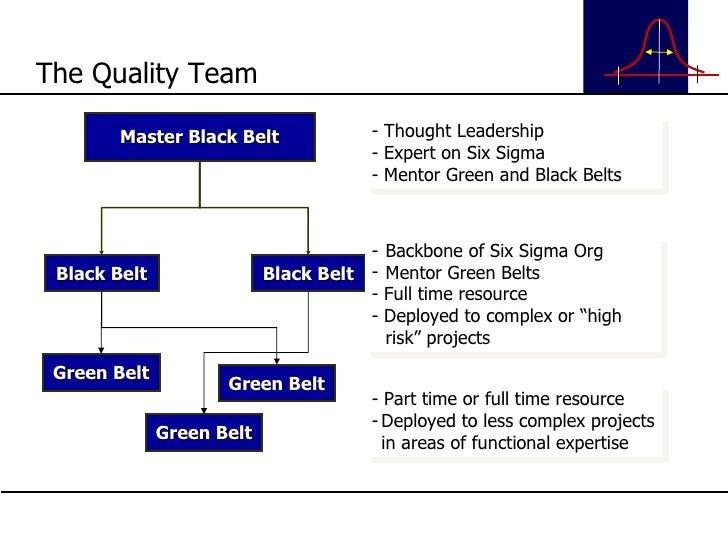 The Quality Team Master Black Belt Black Belt Black Belt Green Belt Green Belt Green Belt - Thought Leadership - Expert on...