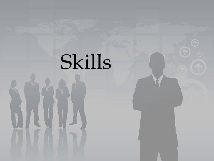 Skills<br />