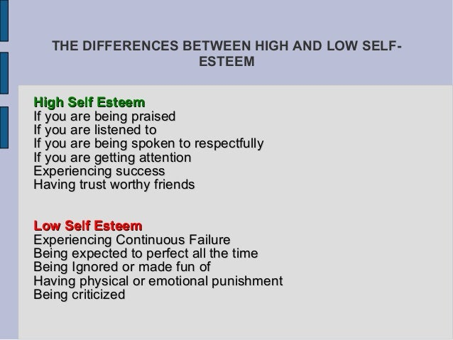 difference between confidence and self esteem