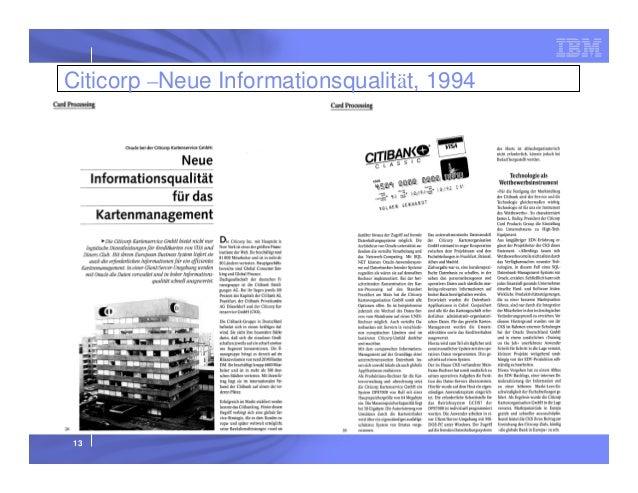 Citicorp –Neue Informationsqualität, 1994  13