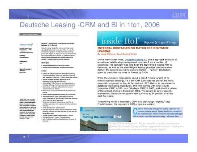 Deutsche Leasing -CRM and BI in 1to1, 2006  15