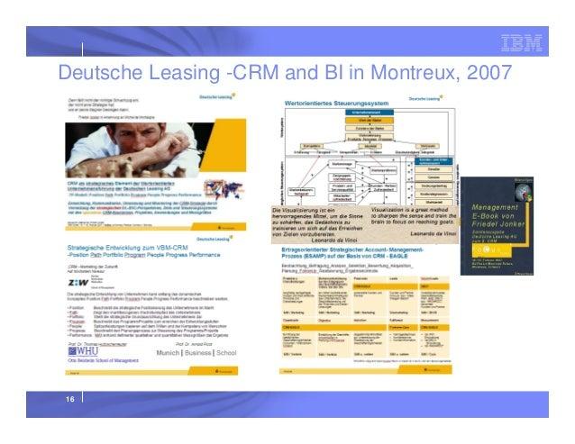 Deutsche Leasing -CRM and BI in Montreux, 2007  16