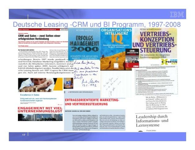 Deutsche Leasing -CRM und BI Programm, 1997-2008  17