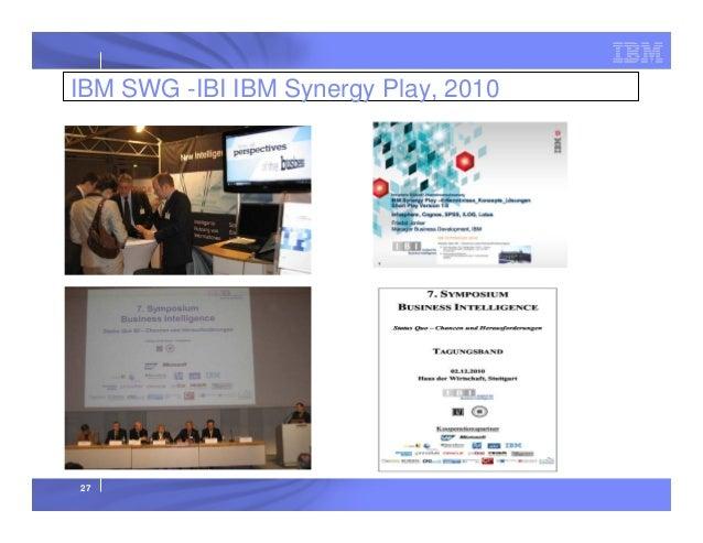 IBM SWG -IBI IBM Synergy Play, 2010  27