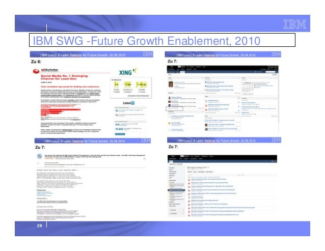 IBM SWG -Future Growth Enablement, 2010  29