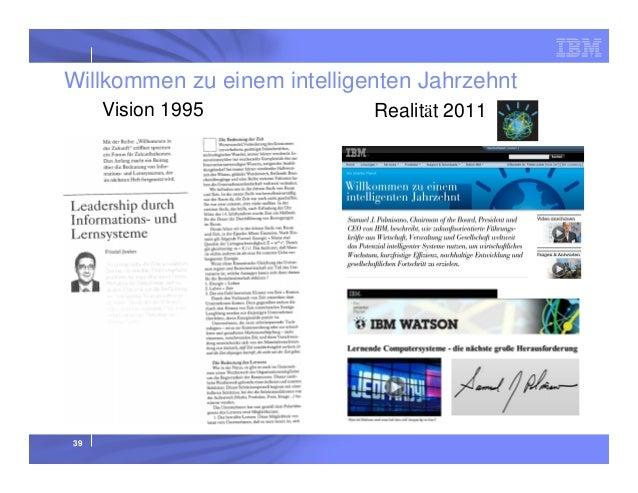 Willkommen zu einem intelligenten Jahrzehnt Vision 1995  39  Realität 2011