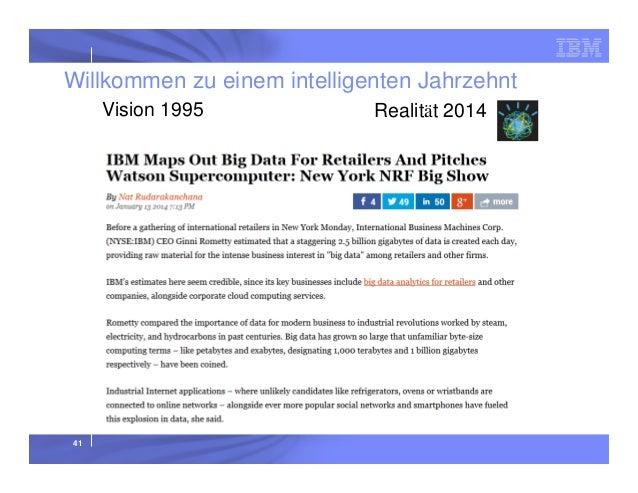 Willkommen zu einem intelligenten Jahrzehnt Vision 1995  41  Realität 2014