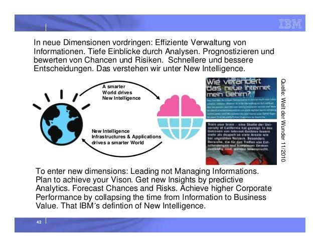 In neue Dimensionen vordringen: Effiziente Verwaltung von Informationen. Tiefe Einblicke durch Analysen. Prognostizieren u...