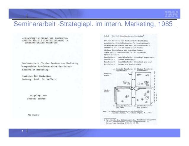 Seminararbeit -Strategiepl. im intern. Marketing, 1985  7
