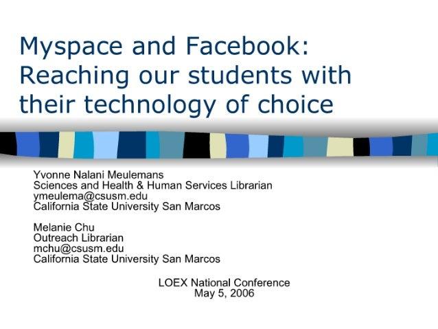 MyspaceandFacebook