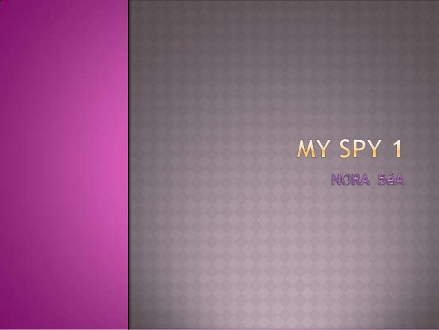  Myspy's name is 005 .She's wearing a blue coat , black shoes , blue jeans, and sun glasses.