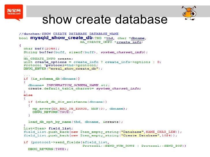 show create database