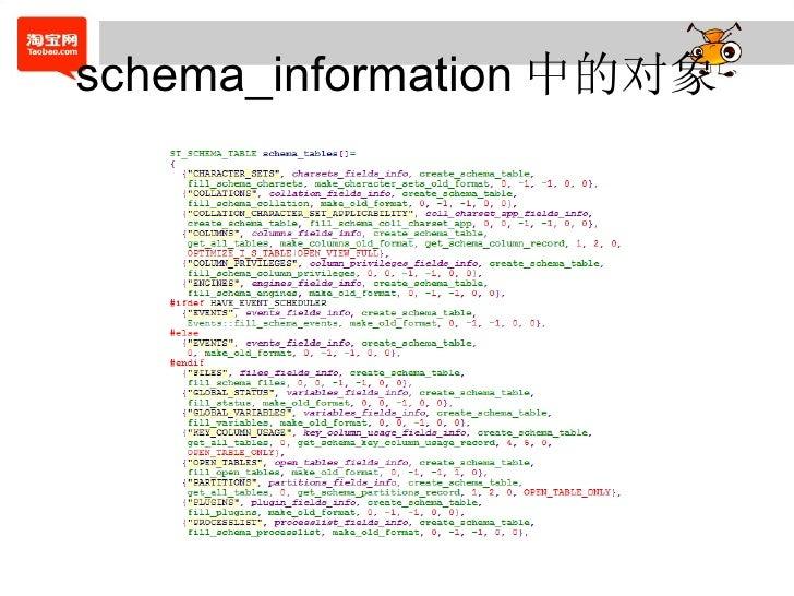 schema_information 中的对象