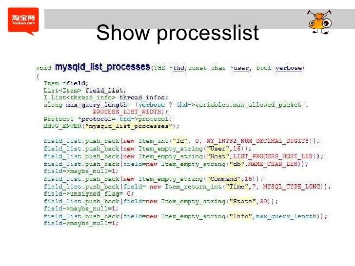 Show processlist