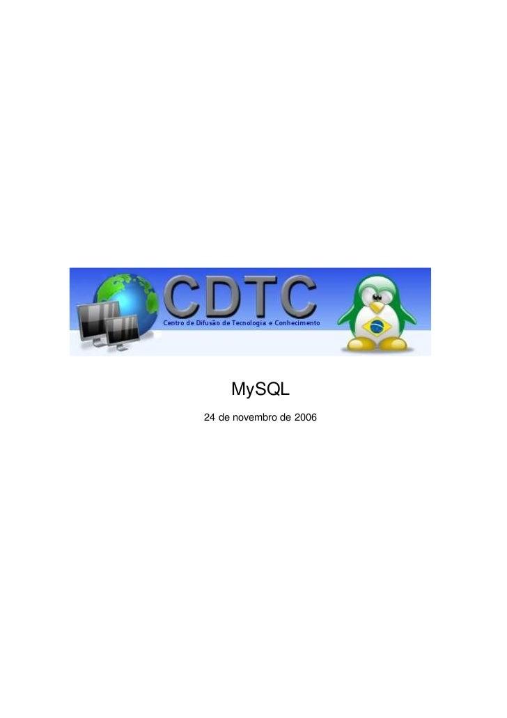 MySQL24 de novembro de 2006