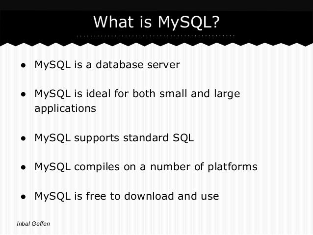 Mysql & Php Slide 2