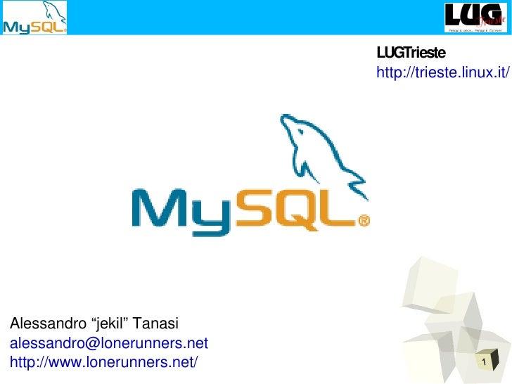 "LUGTrieste                               http://trieste.linux.it/     Alessandro ""jekil"" Tanasi alessandro@lonerunners.net..."