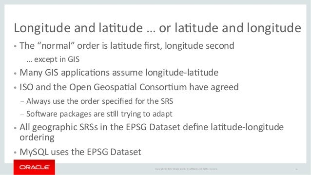 MySQL 8 0: GIS — Are you ready?