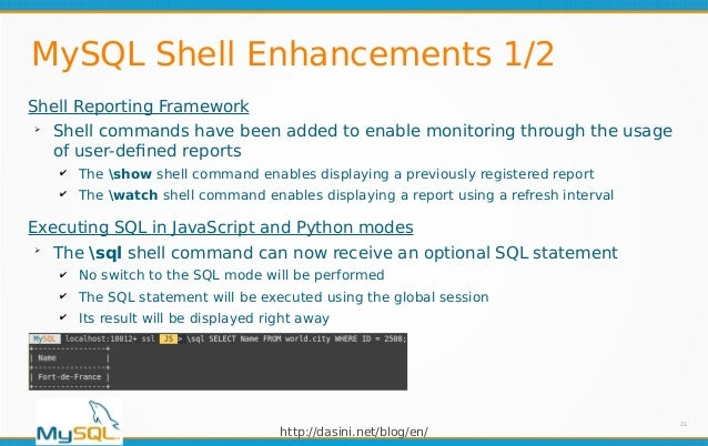 MySQL 8 0 16 New Features Summary