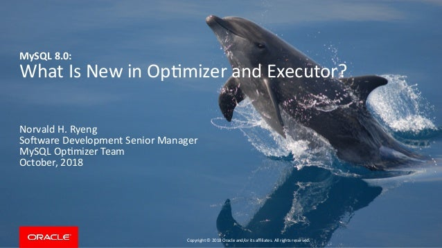 MySQL 8 0: What Is New in Optimizer and Executor?