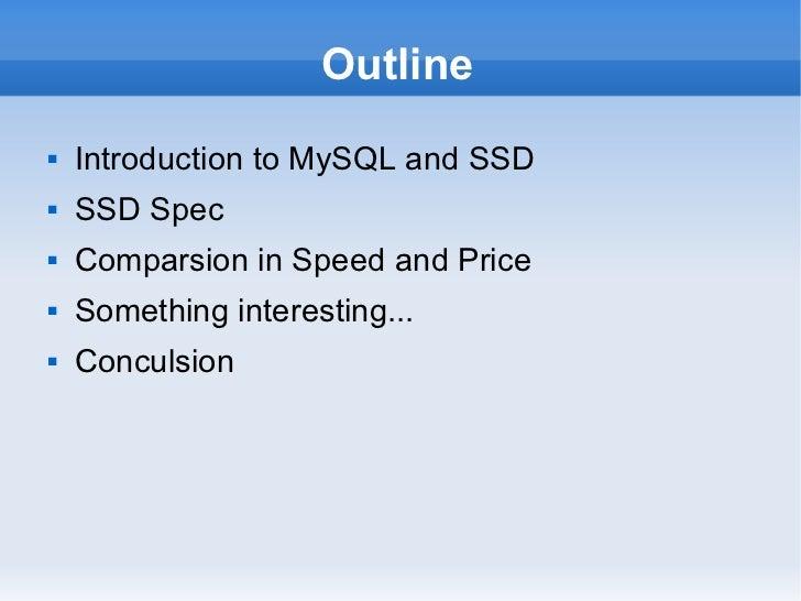 MySQL and SSD Slide 2