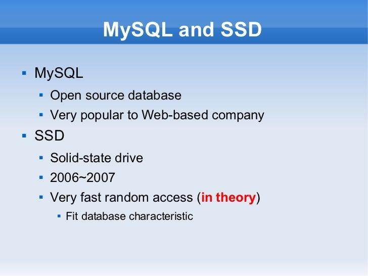 MySQL and SSD Slide 3