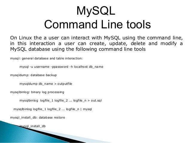 BASIC COMMANDS IN MYSQL PDF DOWNLOAD (Online PDF )