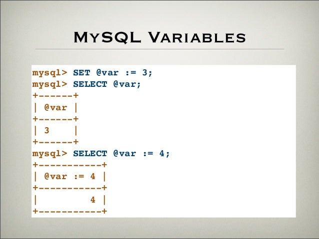 mysql set variable from select