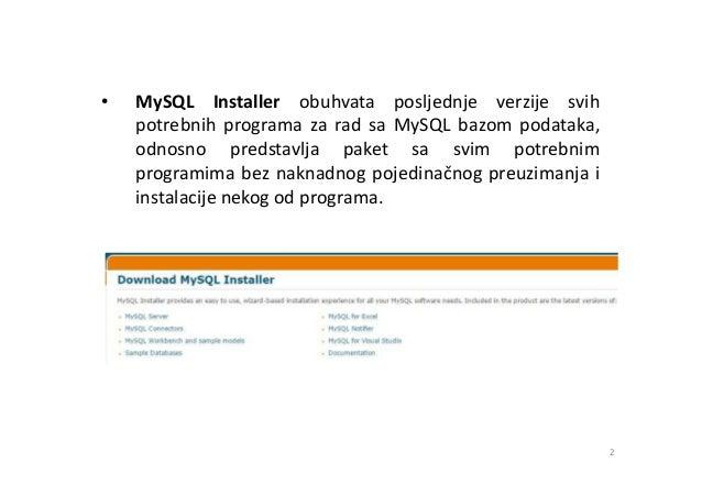 MySQL - korak po korak instalacija MySQL baze podataka Slide 2