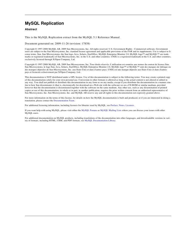 Mysql Documentation 5.1 Pdf