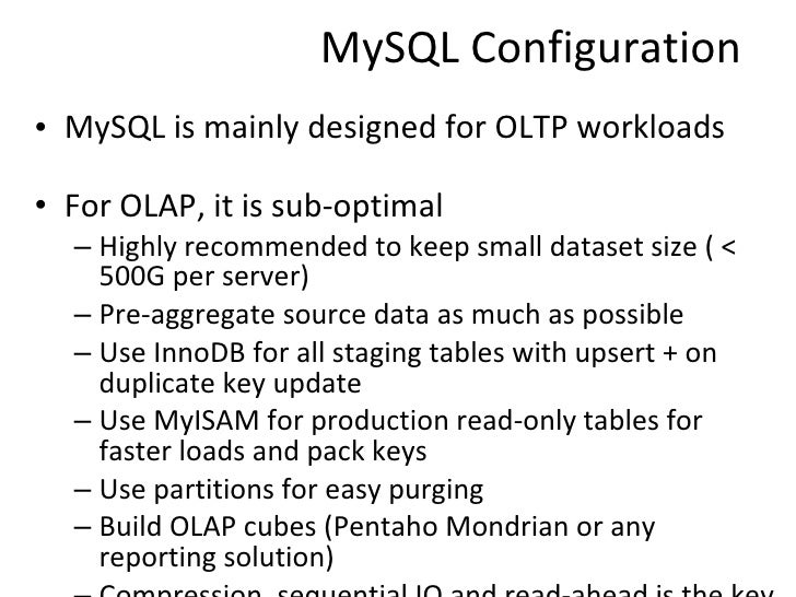 how to create data warehouse in mysql