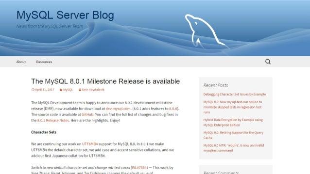 MySQL 8 0 1 DMR