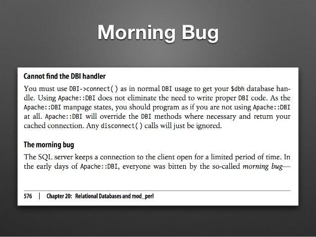 夜にアクセスがない • アクセスログを見ても、夜にほとんどアクセスがない • 運が悪いプロセスは夜中完全に仕事が無い • Morning Bug の発生